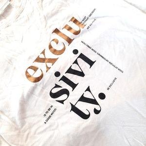 MANGO white typographic t shirt